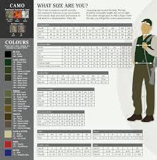 Deerhunter Jacket Size Chart Deerhunter Clothing Size Colour Guide Sportsman Gun