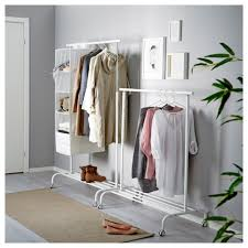 Image Ikea Portis Ikea Rigga Clothes Rack There Is Room For Boxes Or Pairs Of Shoes On The Ikea Rigga Clothes Rack White Ikea