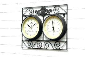 oversized outdoor clock large outdoor clocks clock and thermometer set thermometers sets 7 parts for schools