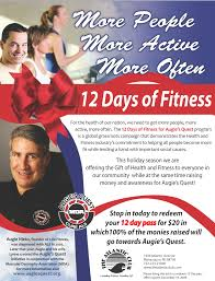 12 days of fitness marketing materials flyer sample