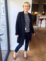 inés de la fressange at uniqlo wool mix chester coat still available in olive or navy