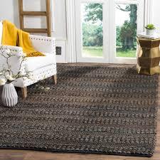 safavieh natural fiber contemporary handmade charcoal jute rug 5 x 8
