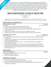 Housekeeping Resume Examples Best Housekeeper Resume Sample Cv Template Uk Usgenerators
