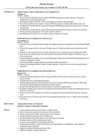 Marketing Job Resume Examples Performance Marketing Resume Samples Velvet Jobs