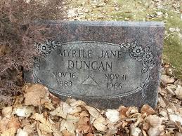 Myrtle Jane Brown Duncan (1883-1966) - Find A Grave Memorial