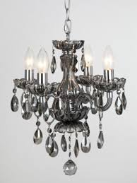 zera smoke glass crystal 4 light chandelier