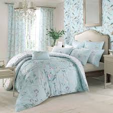 1000047334_main (1389Ã?1389)   Ð?деи для дома   Pinterest   Bed ... & Decorated with an exquisite chinoiserie floral pattern, these Dorma duck  egg blue pencil pleat curtains will add an elegant style to any room. Adamdwight.com