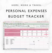 Personal Expense Tracking Spreadsheet Expenses Tracker Spreadsheet Budget Planner Financial Planner