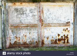 rusty old garage door