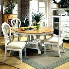 round farmhouse kitchen table white round x base