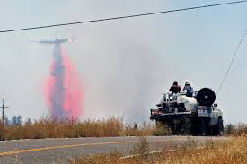 u s department of defense photo essay during efforts to battle the jeru m fire a cal fire contracted water tanker stands by california