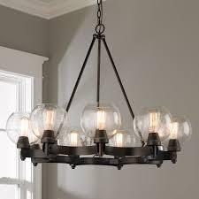 lighting luxury wrought iron chandeliers rustic 1 seeded globe chandelier 9 light jpg c 1494600318 wrought