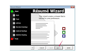 Magnificent Resume Wizard On Word 2010 Pictures Inspiration