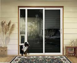 popular sliding patio dog door electronic glass insert