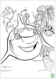Small Picture Shark Tale coloring page DinoKidsorg
