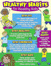 Healthy Living Chart Healthy Habits For Healthy Kids Chart Healthy Habits For
