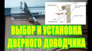 Выбор и установка дверного доводчика Пошаговая инструкция ...