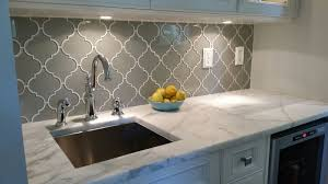 Mosaic Tiles In Kitchen Taupe Arabesque Glass Mosaic Tiles Arabesque Tile Glass Mosaic