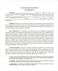 Maintenance Agreement Fascinating Sample Road Maintenance Agreement Forms 48 Free Documents In Word PDF