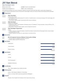Certified Developer Resume Sql Developer Resume Sample And Complete Guide 20 Examples