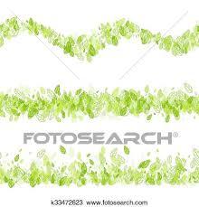 Seamless Strip Green Border Clipart K33472623 Fotosearch