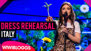 The band maneskin (italy) performs the song zitti e buoni at the jury final of the eurovision song contest. Italy Francesca Michielin Grand Final Dress Rehearsal Eurovision 2016 Wiwibloggs Youtube