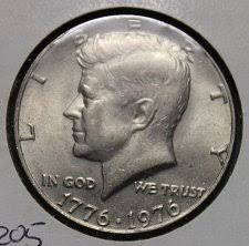 1976 Kennedy Bicentennial Half Dollar Coin Value Prices