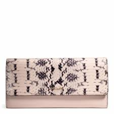 Coach    MADISON SLIM ENVELOPE WALLET IN TWO TONE PYTHON EMBOSSED LEATHER