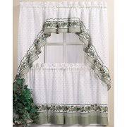 CHF & You Cottage Ivy Tier Kitchen Curtains