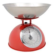 Small Kitchen Weighing Scales Hanson Heritage Red Measuring Baking Traditional Mechanical