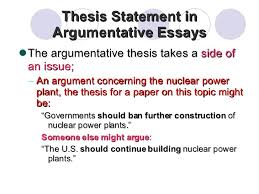 Thesis Argumentative Essay Examples Of Thesis Statements For Argumentative Essays