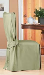 duck sage long dining chair slipcover with bow smooth cotton slipcover in light green upholstery for home renovation