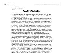 how to write an introduction in war of the worlds essay all papers are written from scratch by only certified and experienced writers waves upon waves from opposing nations would charge these impenetrable