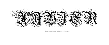Free Name Designs For Tattoos Name Xavier Tattoo Designs