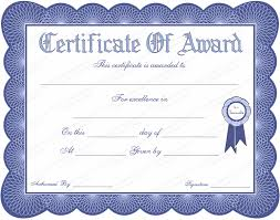 award certificates template blue theme general award certificate template