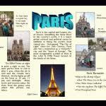 French Travel Brochure Travel Brochure Paris Brochure Templates