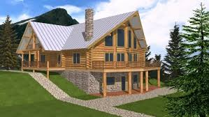 mountain home plans with walkout basement beautiful small rustic cabin floor plans with walkout basement