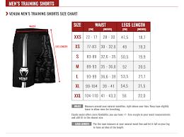 Men S Bottoms Size Chart Venum Size Guide Venum Com Asia