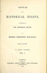 critical and historical essays macaulay