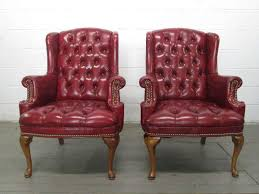 chair design ideas tufted leather wingback chair burdy incredible leather armchair with brown varnished wooden