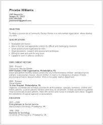 Objective For Social Work Resume Sample Resume And Template Amazing Social Work Resume Skills