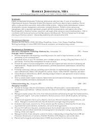 Sample Mba Resume Berathen Com