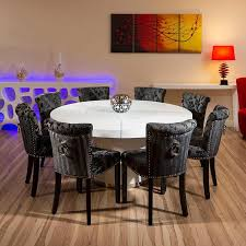 round dining table for 8. Fine Table Ritzy 72 Inch Round Table Glamorous Room 8 Large  Seats 10 Gloss Vas Paintings Blue Lamps Sidetable Wall Wooden  On Dining For E