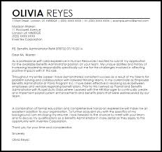 Payroll Administrator Cover Letter Benefits Administrator Cover Letter Sample Cover Letter