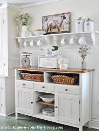 Take A Tour Of My Cottage Style Farmhouse  Kitchen Sideboard Country Style Shelves