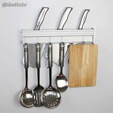 50cm matte aluminum wall mounted kitchen organizer hanger utensil pertaining to the most elegant kitchen utensil