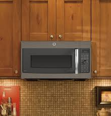 Ge Under Cabinet Microwave Ge Profile Series 17 Cu Ft Convection Over The Range Microwave