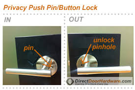 privacy push pin on lock