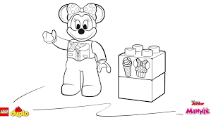 Small Picture LEGO DUPLO Minnie Mouse coloring page Coloring page LEGO