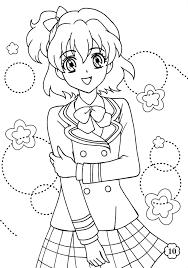 Tranh tô màu anime đẹp cute dễ thương cho bé trai, bé gái